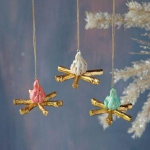 New Whimsical Boho Campfire Ornament